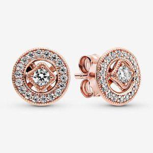 🔥Pandora🔥 Vintage Circle Stud Earrings